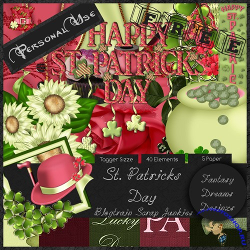 Scrap-set - St.Patrick Day