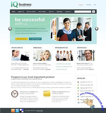 IQ Business Website Free Template