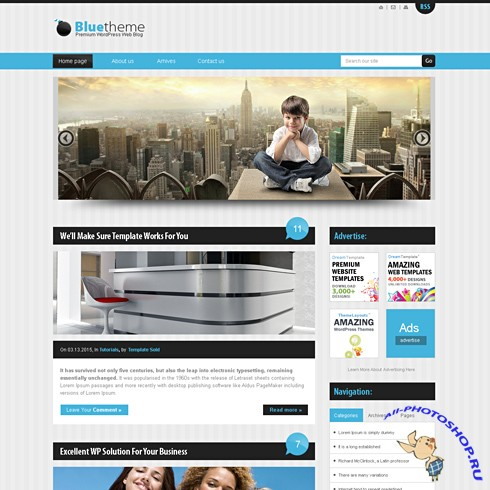Dynamic CSS Templates - Bluestripes