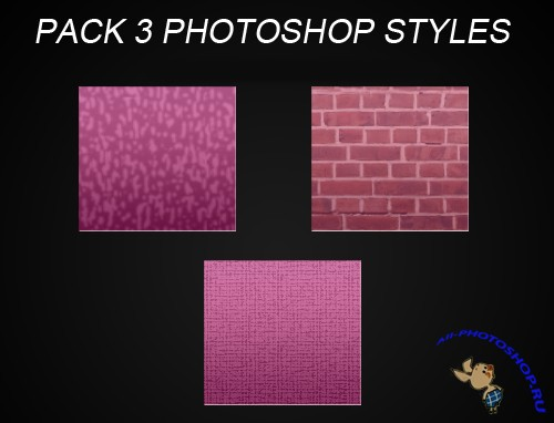 Pink Styles for Photoshop