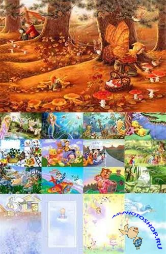 Collection of children's backgrounds