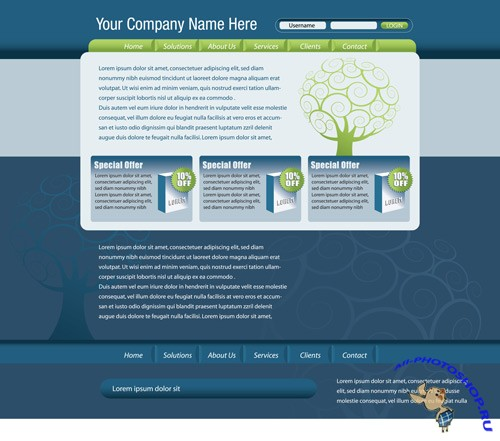 Shutterstock - Company Web Site Design Vector Template-1, EPS