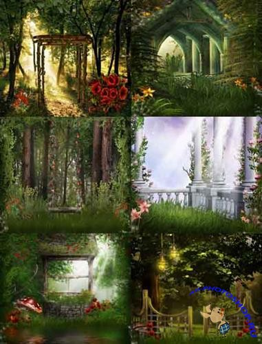 Arbors in the woods backgrounds