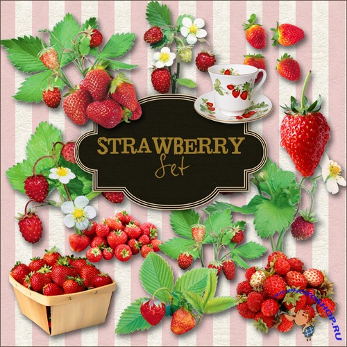 Scrap-kit - Stra Wberry Set