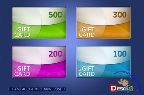 Clean & Free Gift Cards Banner Pack