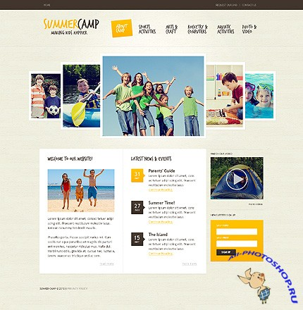 Summer Camp Free Website Template
