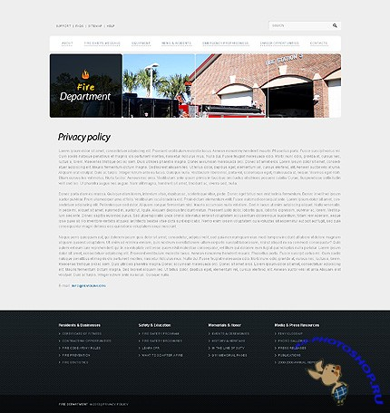Free Fire Department Website Template