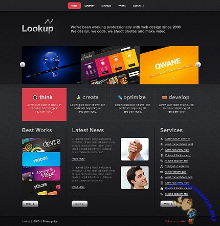 Free Lookup Design Website Template