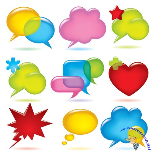 Shutterstock - Speak Bubbles Balloons EPS