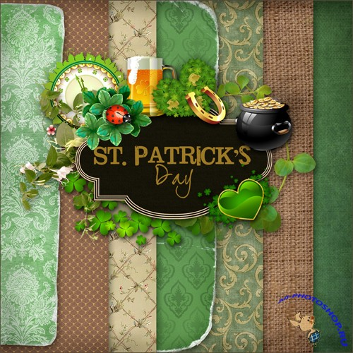 Scrap-set - St. Patricks Day's #2