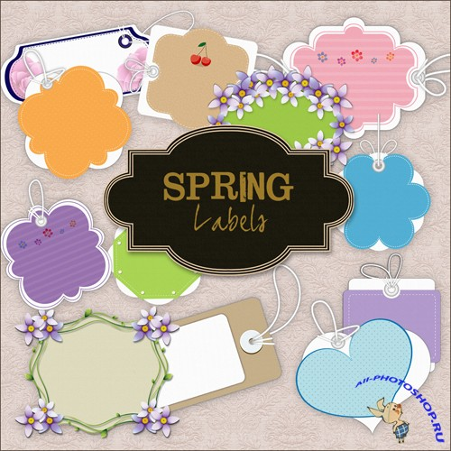 Scrap-kit - Spring Lables #2