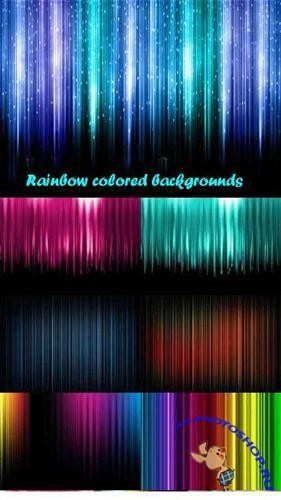 Rainbow colored backgrounds