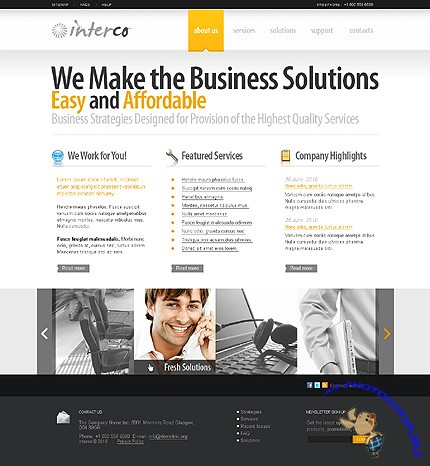 Interco Business Website Free Template