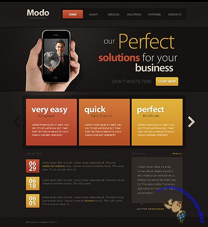 Modo Business Free Website Template