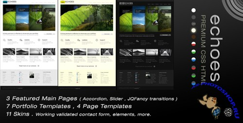 "PURCHASED (Full RETAIL) Themeforest Template - ""Echoes Premium"""