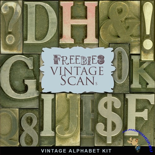 Scrap-kit - Old Vintage Alphabet