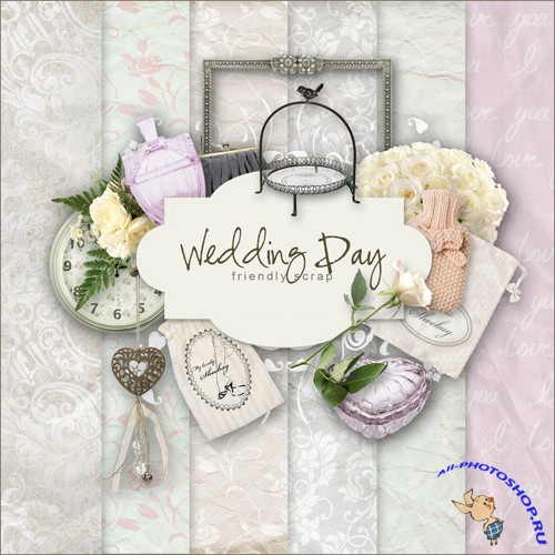 Scrap-set - Wedding Day