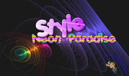 Styles for Photoshop - Neon Paradise