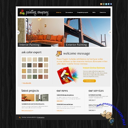 Painting Palette Free Website Template