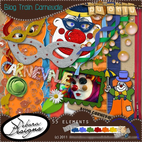 Scrap-set - Blog Train Carnevale