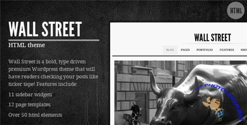 ThemeForest - Wall Street HTML Theme - Rip