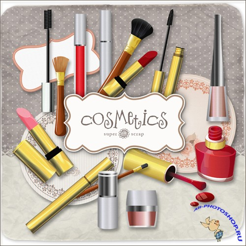 Scrap-kit - Cosmetics Elements