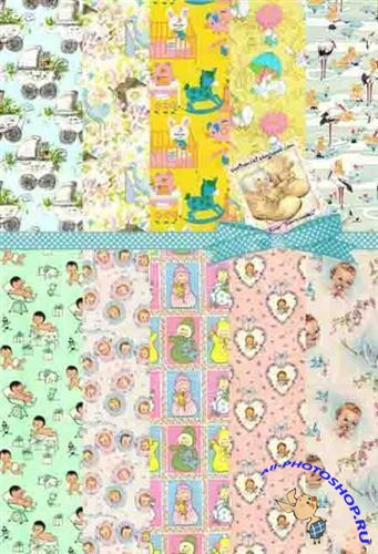 Children's wrapping paper - Backgrounds