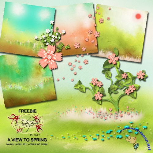Scrap-set - A View To Spring #2