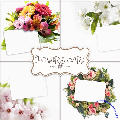 Flowers Cards Backgrounds