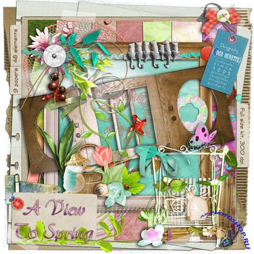 Scrap-set - A View To Spring #3