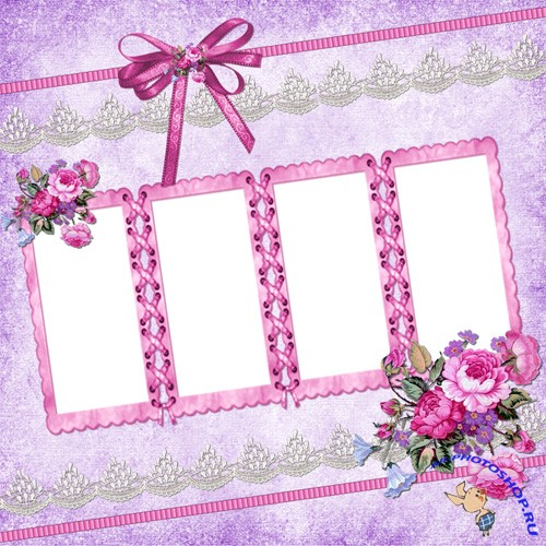 PNG Frame - Pink and Purple