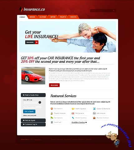 Free Insurance Business Website Template