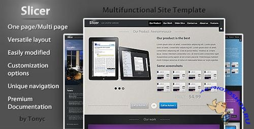 ThemeForest - Slicer - ( One page ) Product / Service template - Rip