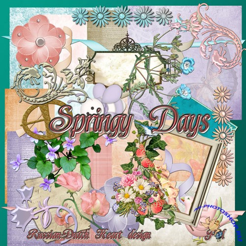 Scrap-set - View Spring Days