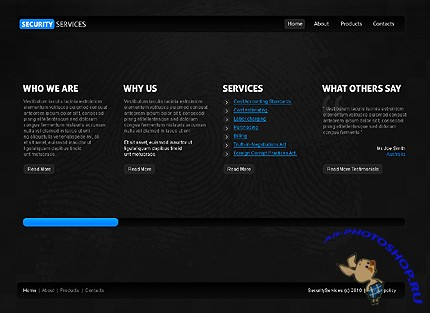Free Security Services Website Template