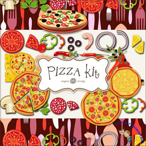 Scrap-kit - Pizza Set