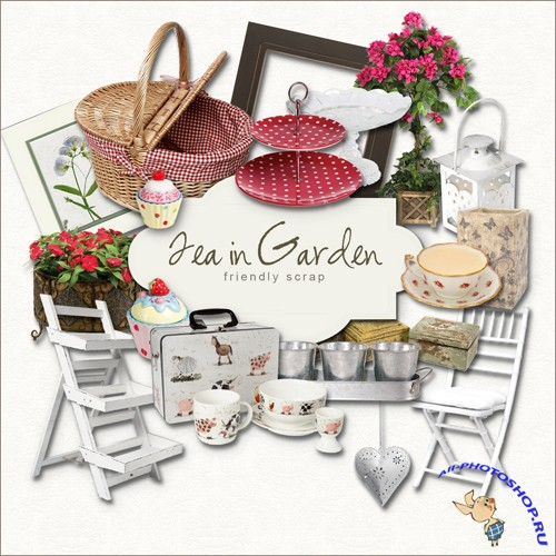 Scrap-kit - Tea in Garden