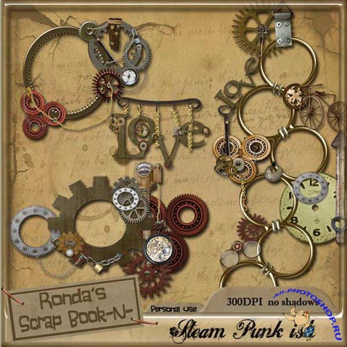 Scrap-kit - Steam Punk Ish Clusters Frames