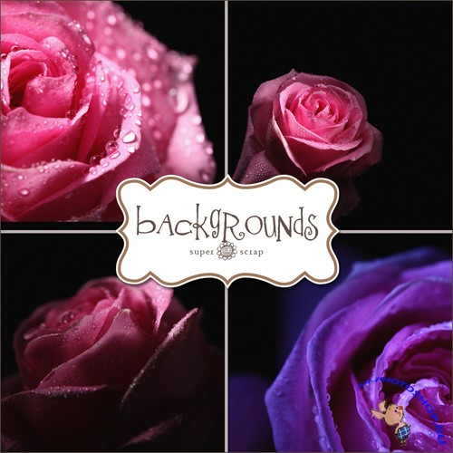 Textures - Dark Roses Backgrounds