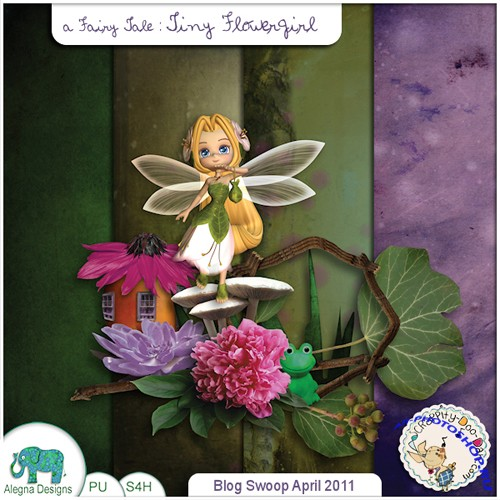 Scrap-set - Tiny Flower Girl #2
