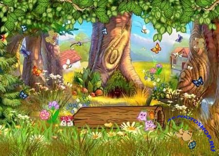 Forest Glade - children's background
