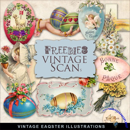 Scrap-kit - Vintage Easter Illustrations