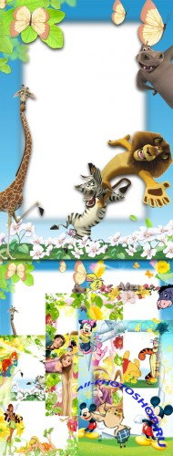 Children's frames with animated characters