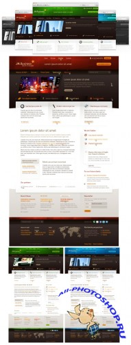 Ja Business - Full PSD, Font Sources
