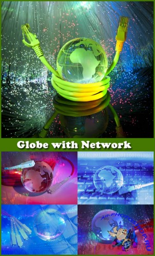 Globe with Network - Stock Photos