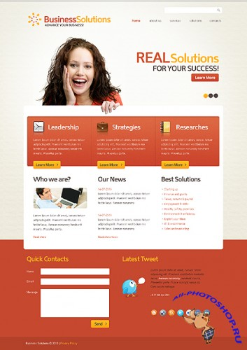 Business Company Website Free Template