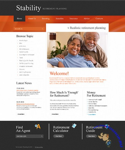 Free Stability Retirement Website Template