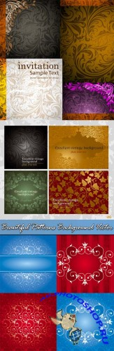 Beautiful Patterns Background Vector