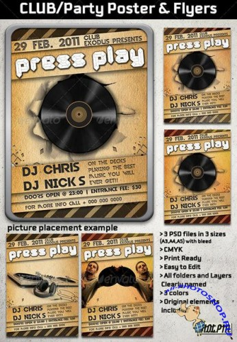 GraphicRiver Party/Club/Concert Flyer and Poster