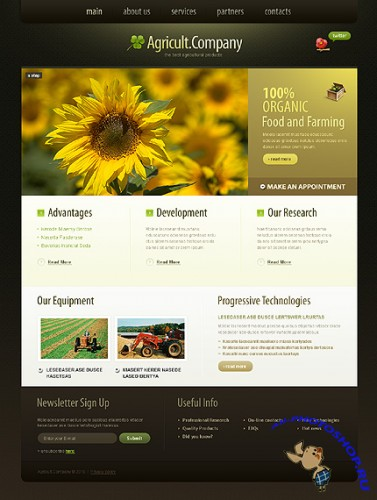 Free Agricult Company Website Template
